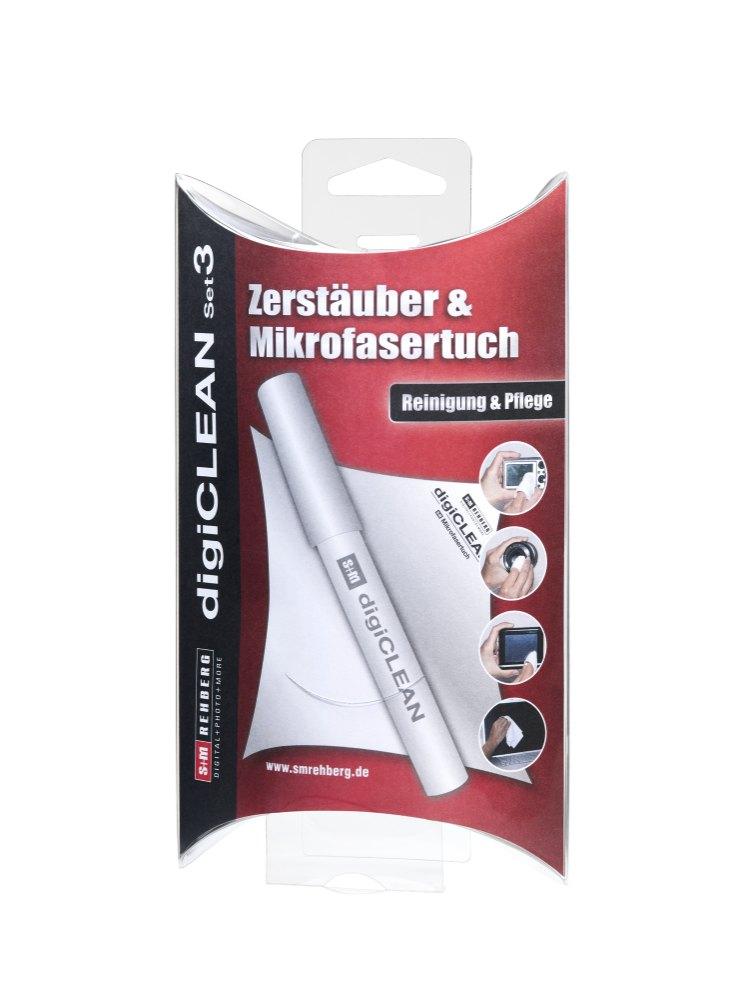 Digiclean Set 3; Zerstäuber & Microfasertuch für S+M Rehberg G